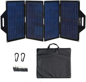120W Foldable Solar Panel Charger  HJT Mono Cell As Mobile Power Bank